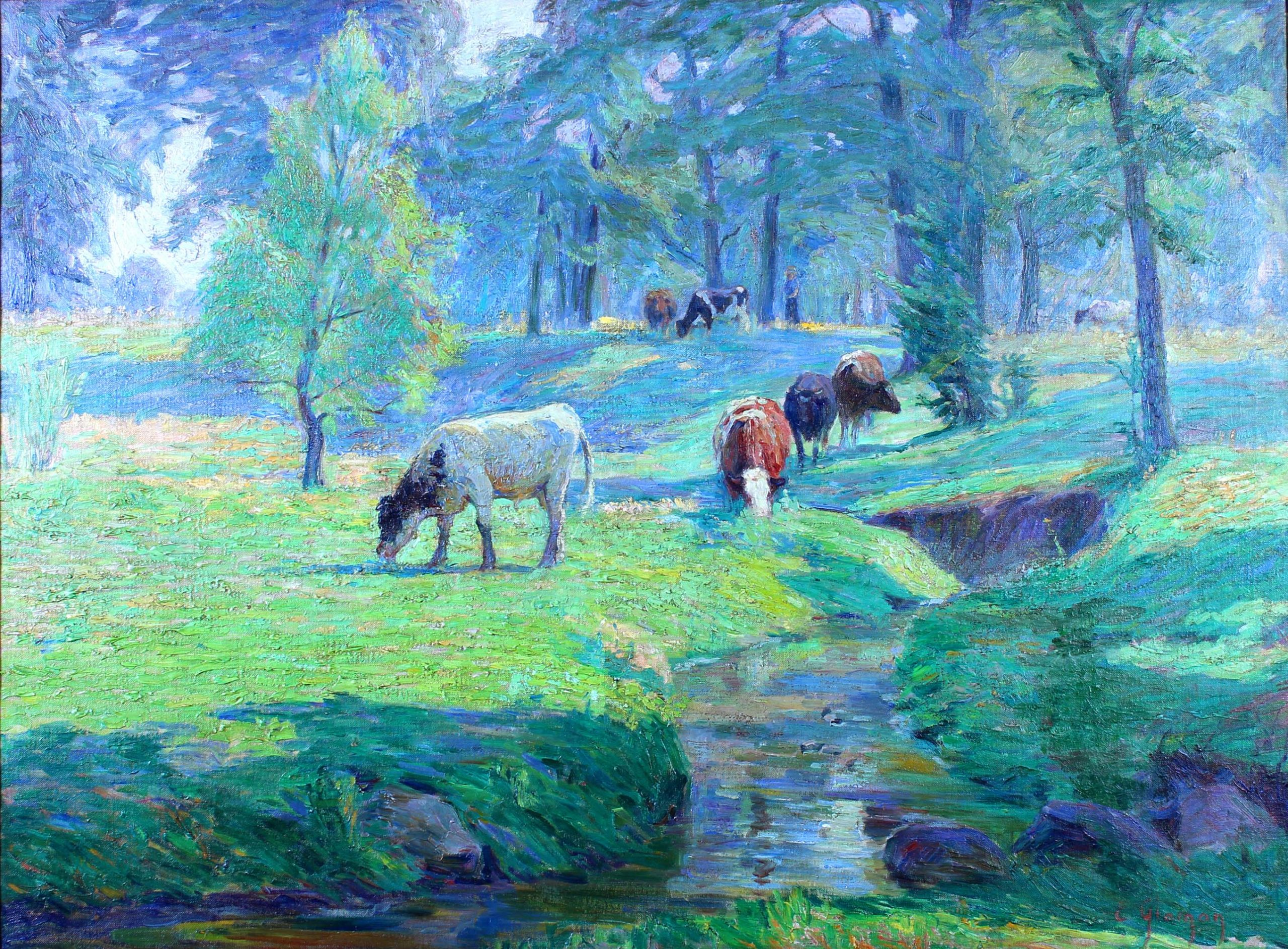"""The Pasture"" by Eugenie Glaman, Vanderpoel Art Association"